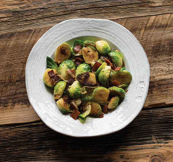 Vegans love bacon, too! Read an interview with Baconish author, Leinana Two Moons, and grab the vegan Brussels sprouts with bacon recipe from the book.