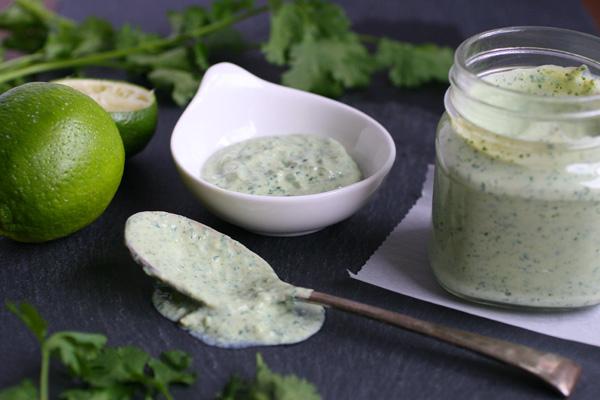 This nut-free vegan crema recipe uses silken tofu instead of cashews or vegan yogurt.