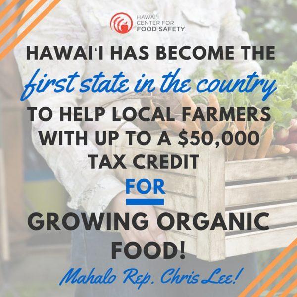 organic tax credit hawaii