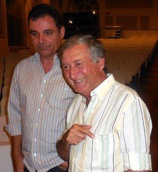 Antonio Oliveira with his son-in-law Vladimir