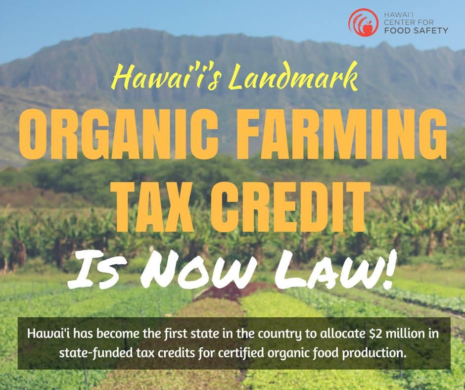 hawaii organic farm tax credit