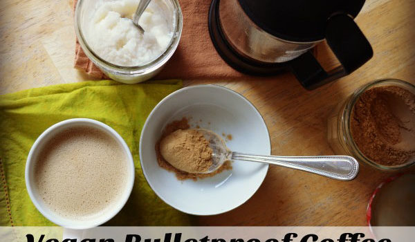 You can skip the butter and coconut oil: this vegan bulletproof coffee is so delicious, making a great morning or afternoon treat, with the benefit of healthy coconut oils and superfood maca.