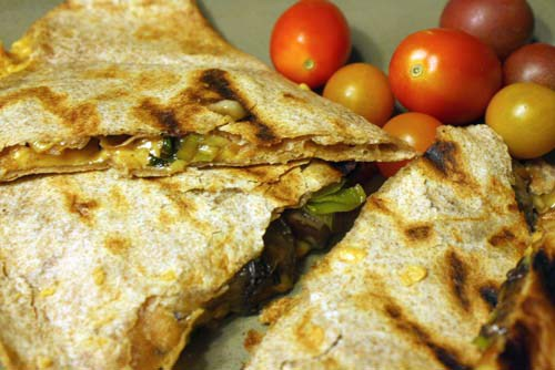 Grilled Leek Quesadillas