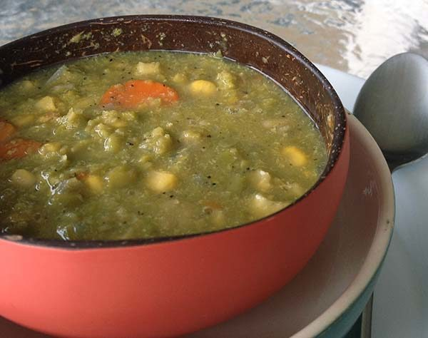 Split Pea Soup from Vibrant Wellness Journal