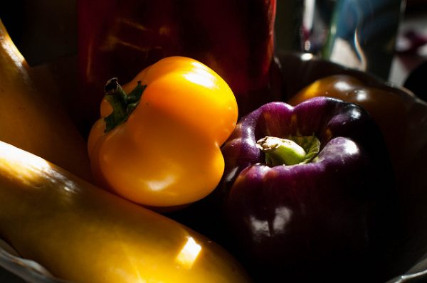 bell peppers and summer squash
