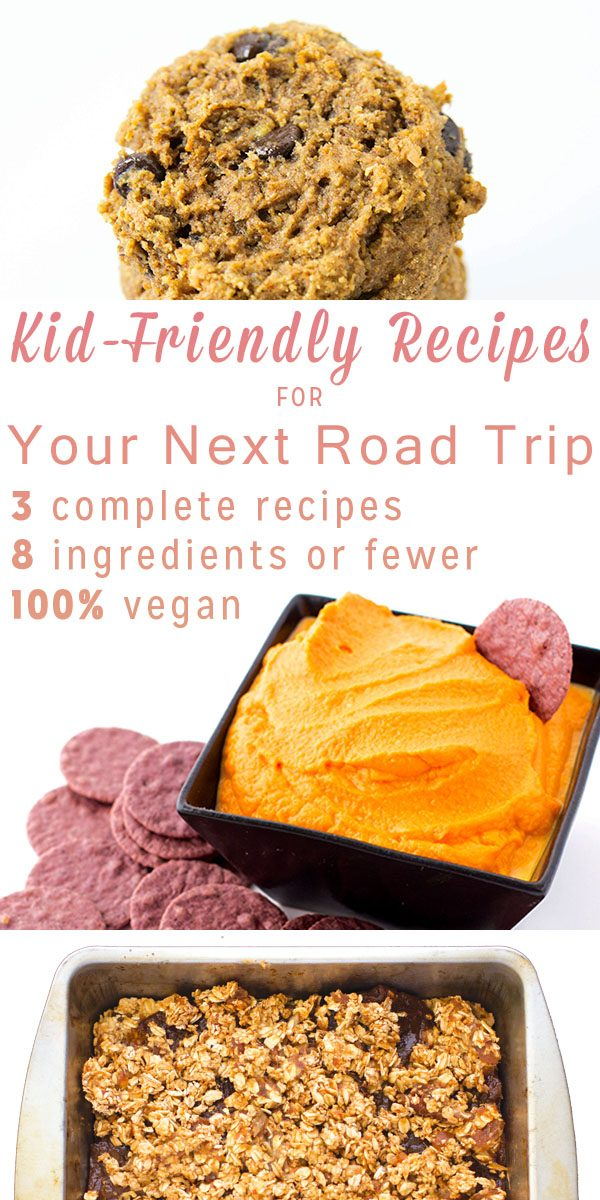 The China Study Family Cookbook by Del Sroufe is loaded with kid-friendly snacks and other simple recipe ideas to keep the hanger away on road trips and year-round.