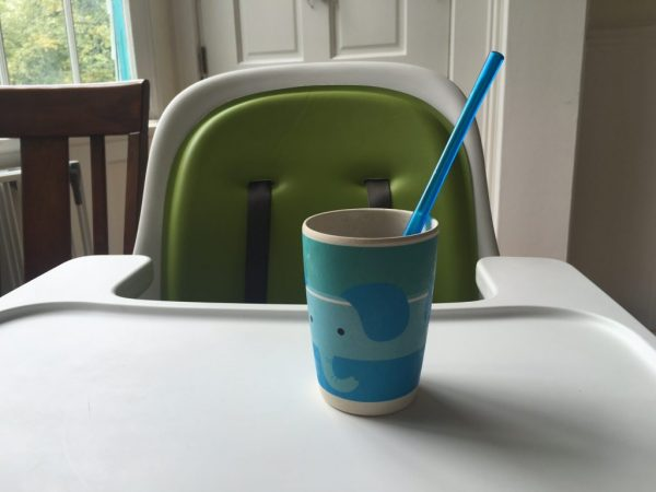 My son enjoys drinking his morning orange juice with a re-usable straw (Photo: Robyn Purchia)