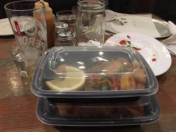 Let's look at some practical ways to reduce waste when you go out to eat.