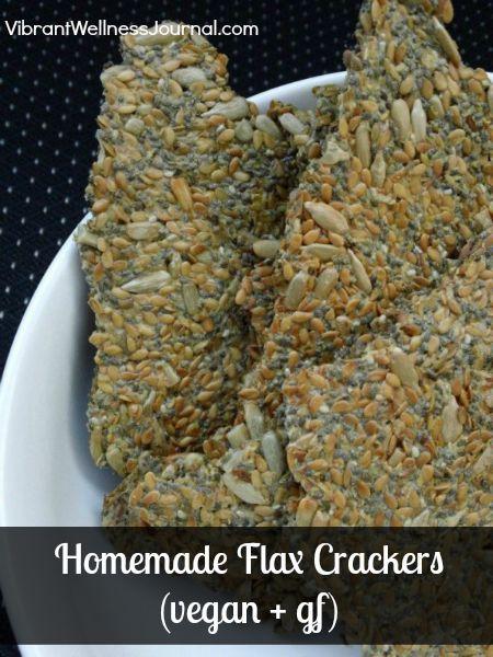 homemade flax crackers