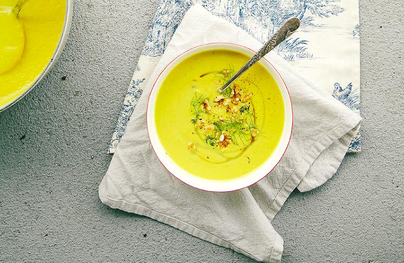 leek fennel and apple soup