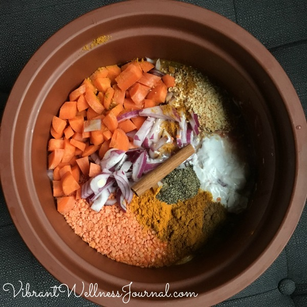 red lentil curry stew